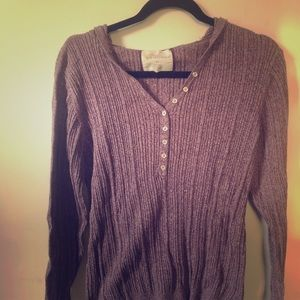 Natural Reflections Large Heather Purple Sweater.